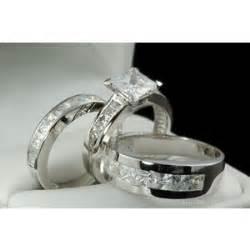 mens and womens matching wedding ring sets his matching engagement wedding ring set