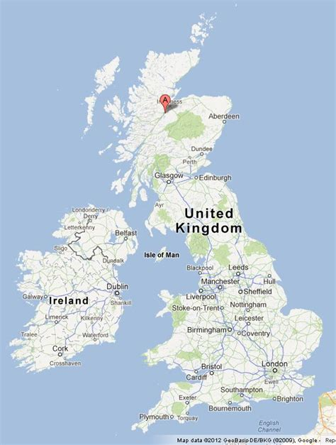 loch ness map loch ness on uk map