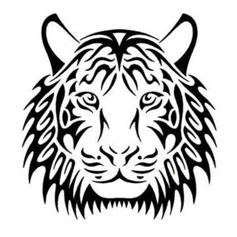 tiger face tribal tattoo tribal tiger design tattoowoo