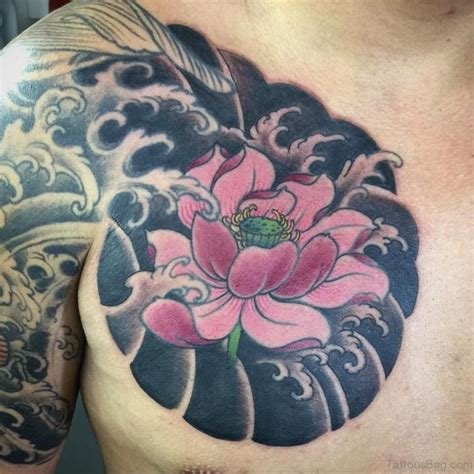 tattoo lotus man 50 beautiful lotus tattoos on chest
