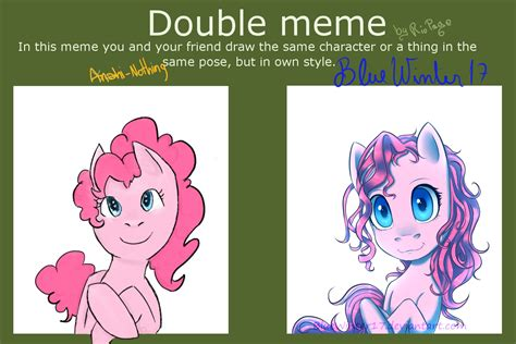Double Meme - double meme pinkie pie by bluewinter17 on deviantart