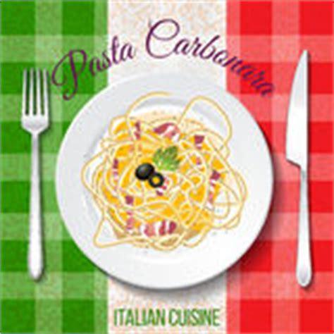 cuisine traditionnelle italienne peinture de carbonara de spaghetti par l aquarelle