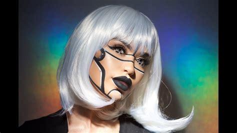 bicentennial robot halloween makeup iluvsarahii youtube