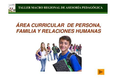 programacion de persona familia y relaciones humanas de 4 de secundaria area persona familia y relaciones humanas by sandra