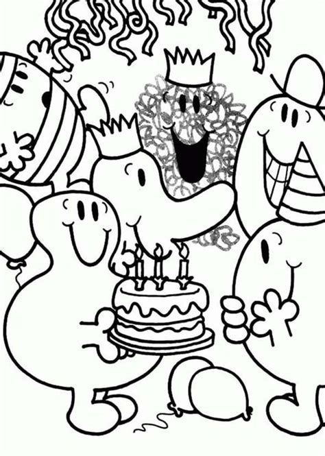 Mr Birthday Mr And Miss mr and litltle miss coloring pages coloring home