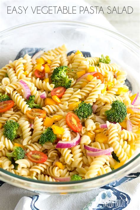 easy salad recipe easy vegetable pasta salad with roasted red pepper italian