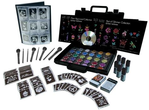 tattoo drawing kit glimmer pro party kit glimmer body art
