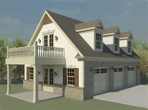 garage loft plans three car garage loft plan with future guest quarters 006g 0124 at