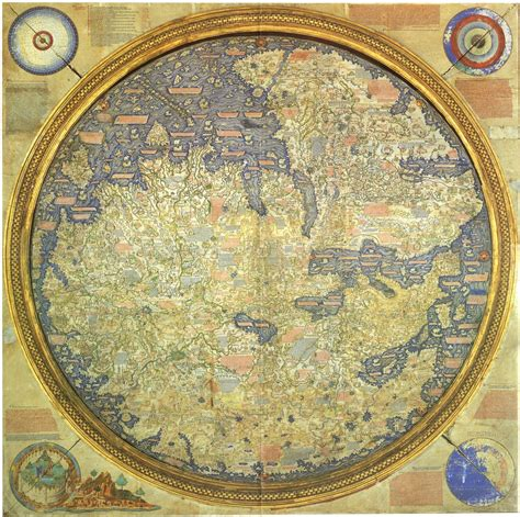 15 century map as up south writ large