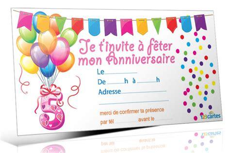 Exemple De Lettre D Invitation D Anniversaire Modele Invitation Anniversaire Garcon 5 Ans Document