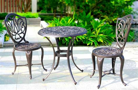Aliexpress Com Buy Balcony Leisure Cast Aluminum Table Cast Aluminum Patio Table And Chairs