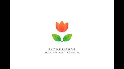 tutorial floral logo illustrator tutorial flower shop logo design youtube