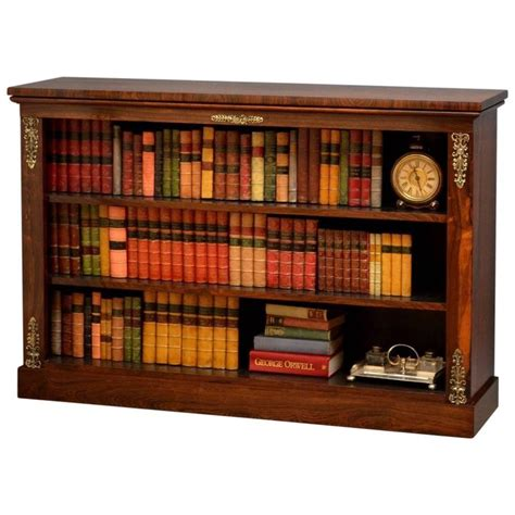 Low Bookcases For Sale by Regency Rosewood Low Open Bookcase At 1stdibs