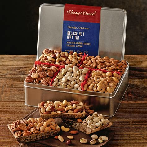 Nuts Gifts For - deluxe mixed nuts gift tin gourmet mixed nuts harry