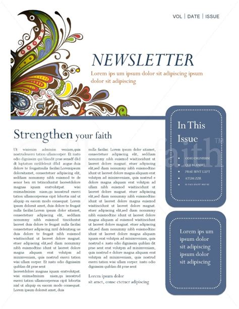 retro church newsletter template template newsletter