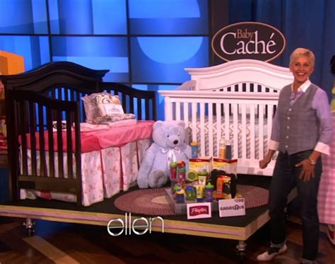 Green Crib Bedding Ellen Degeneres Mothers Day Show Baby Cache Cribs