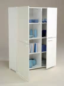White Storage Cabinet White Wood Storage Cabinets With Doors Home Furniture Design