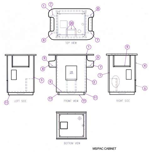 size arcade cabinet plans cabinet construction plans klov vaps coin op videogame