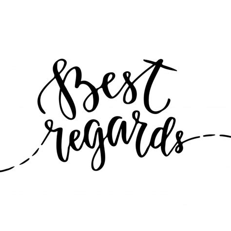 best regards and happy new year best regards vector greeting card with lettering icon with brush lettering vector