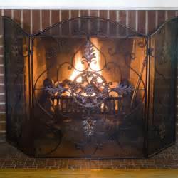 uttermost 3 panel egan fireplace screen fireplace