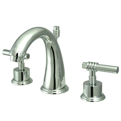 Bathroom Faucet Modern Kingston Brass Modern 8 In Widespread 2 Handle Mid Arc Bathroom Faucet In Chrome Hks2961ml