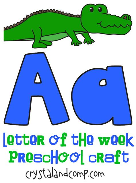 craft preschool letter of the week a is for alligator