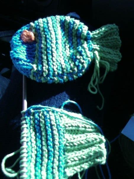 knitted soap saver knits on