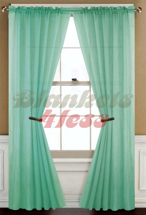 mint green curtain panels mint green solid 1 sheer window curtain panel brand new