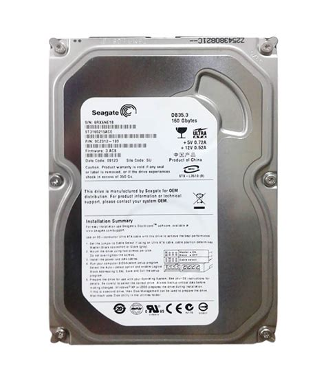 Hdd Seagate 160gb Seagate 160gb Ide Drive Buy Seagate 160gb Ide Drive At Low Price In India