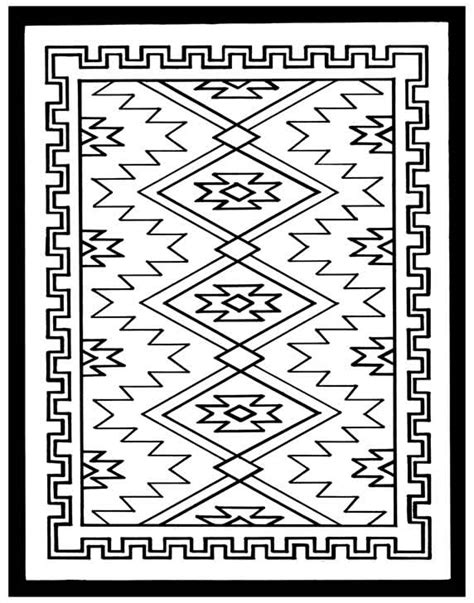 navajo rug coloring pages www imgkid com the image kid