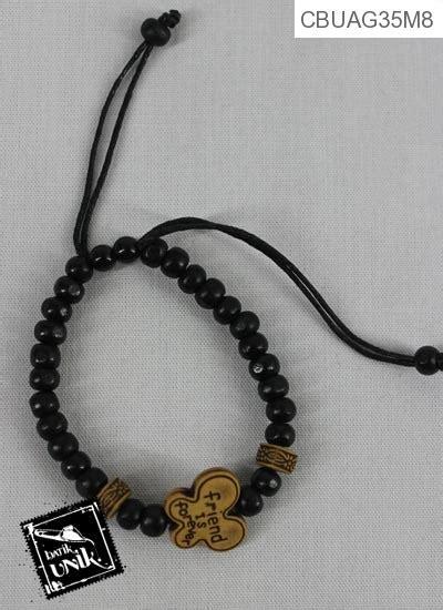 Gelang Tasbih Warna Hitam gelang tali tarik tasbih warna hitam coklat gelang etnik