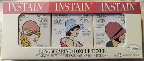 Set The Balm naesays the balm instain blush set review swatches