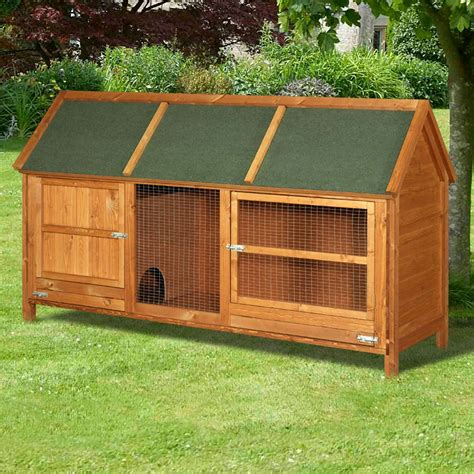 Bunny Hutch Home And Roost Large Rabbit Hutch Deluxe Rabbit