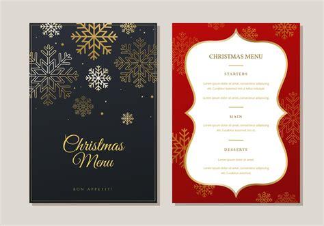 christmas menu dinner template   vectors clipart graphics vector art