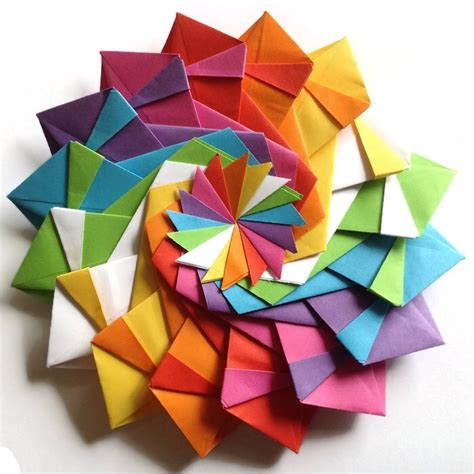 How To Make Origami Geometric Shapes - geometric paper origami comot