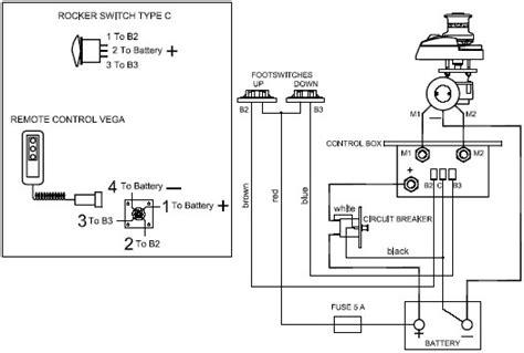windlass 3 terminals electric motor wiring diagram