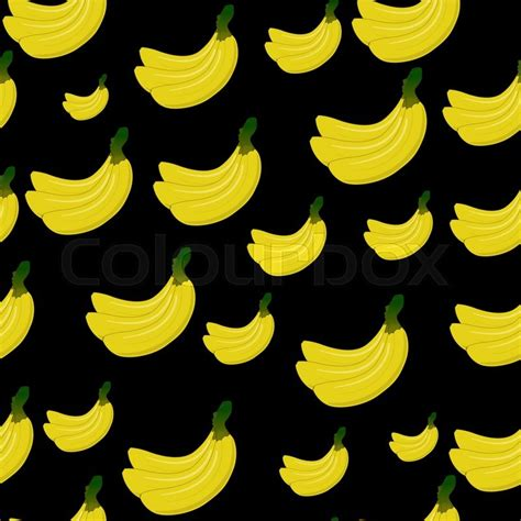 black bananas wallpaper vector seamless background with yellow bananas on black