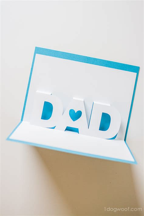 Father S Day Pop Up Card With Free Silhouette Templates One Dog Woof Pop Up Card Templates