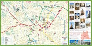 tourist attractions map milan tourist attractions map