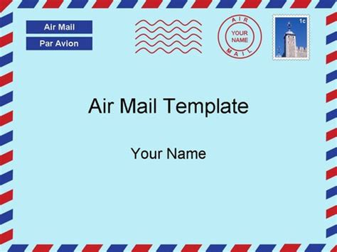 airmail postcard template airmail letter template