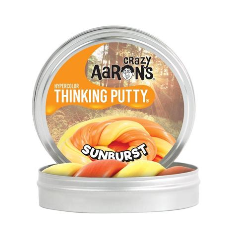 Crazy Aaron Sunburst Thinking Putty Mini   Toys and Playtime Oasis