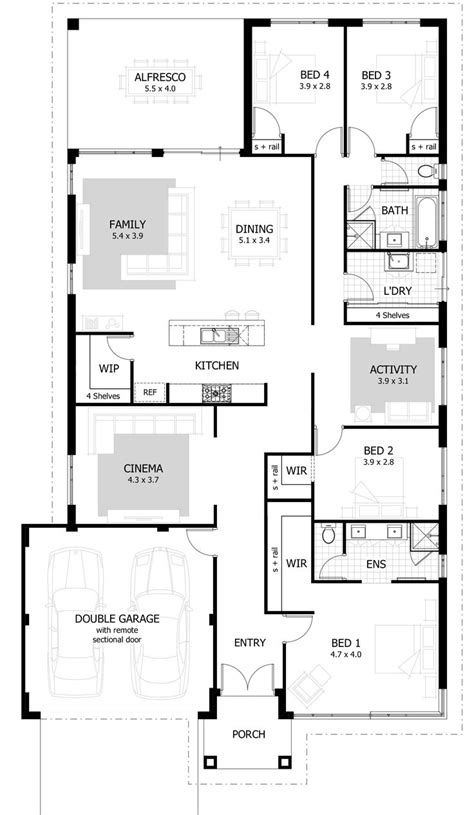 open living house plans 25 best ideas about 4 bedroom house on 4