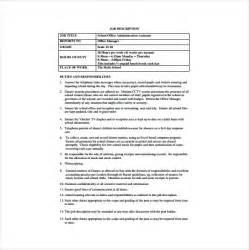 assistant business plan template office administrator description templates 10 free