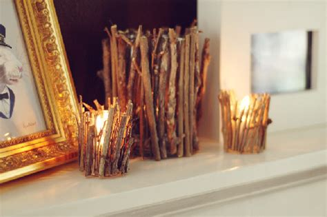 wood branches home decor beautiful diy wood sticks candle holders