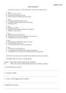 topic sentences worksheet english academic essay writing
