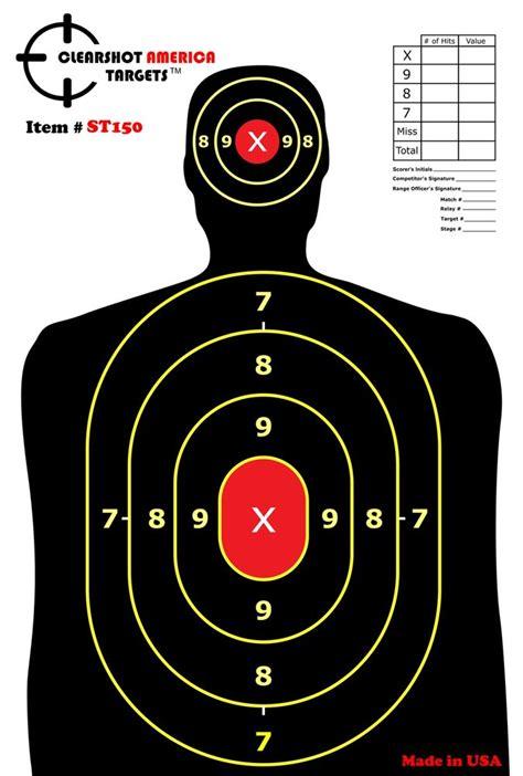 printable 11x17 targets 10 premium hd silhouette hand gun rifle paper shooting