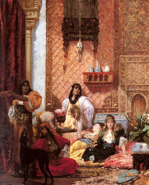 The Ottoman Harem Georges Jules Victor Clairin The Sultans Favorites Classic Painting Classic Works Of