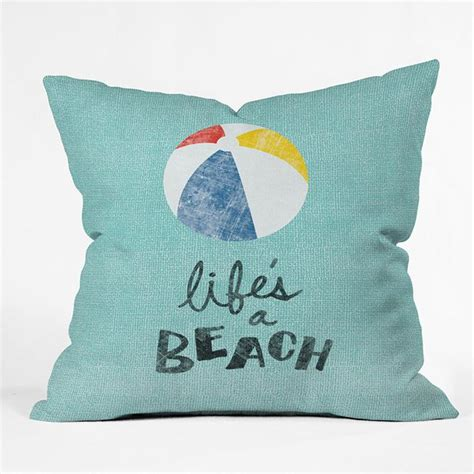 Beachy Throw Pillows by Handpicked By Shopify 36 Cool Products That Beat The Summer Heat