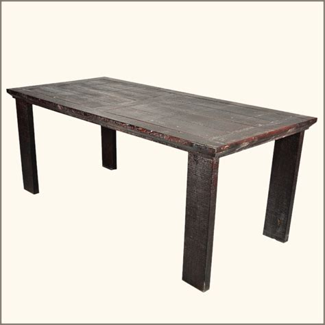 Dining Table: Solid Wood Dining Table Distressed