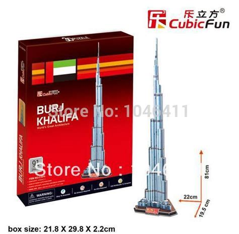 How To Make Burj Khalifa Out Of Paper - burj khalifa cubicfun 3d educational puzzle paper eps